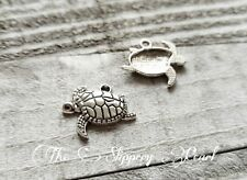 Turtle Charms Pendants Tortoise Charms Sea Turtle Charms Antiqued Silver 10pc