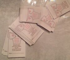 50 PINK DIAPER RAFFLE TICKETS Baby Shower invitations Favors Games Boy Girl New