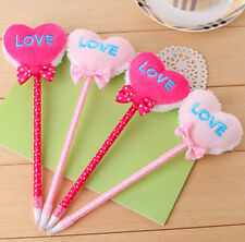 FD1306 Sweet Candy Love Heart Bowknot Pen Ballpoint Pen Stationery ~Random~ 1pc