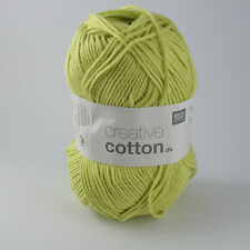 Rico Creative Cotton DK - 100% Cotton Knitting & Crochet Yarn - Pistachio 016