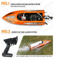 US Udirc 2.4GHz High Speed Remote Control Electric Boat Kid`s Xmas Gift -Black