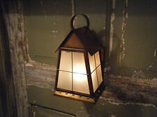 Lot of 2 Solid Brass Light Fixture Sconce  Porch Antique Lantern 18th century