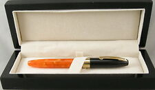 Sheaffer Legacy Fantasy Orange & Black Cap Fountain Pen -18kt Gold Nib - NEW
