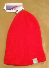 NWT Quicksilver Timber Beanie No Pom One Size Unisex Red Solid NEW