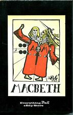Macbeth  12 Full page Illustrations by Salvador Dali in Slipcase LIKE NEW