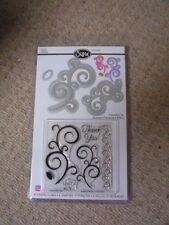 SIZZIX -657918 - 6 STAMPS & 5 DIES - SWIRLS- BRAND NEW - FITS STAMPIN UP BIGSHOT