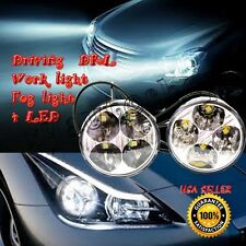 2pcs White 4 LED Round Daytime Running Light DRL Car Fog Day Driving Lamp 12V US