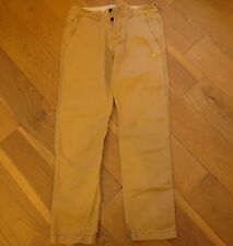 Abercrombie & Fitch Mens Khaki Skinny Straight Chinos Pant Trouser 32 X 32 NWTS