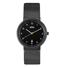 Braun Men's BN0032BKBKMHG Classic Mesh Analog Display Quartz Black Watch