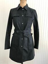 PRADA WOMEN'S RAIN TRENCH JACKET COAT AUTHENTIC 42 GORTEX NAVY S M 6