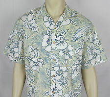 Mens Bluewater Wear Hawaiian shirt Aloha Camp short sleeve Hand Made USA – M