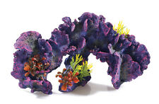 Large Long Purple Coral Reef with Artificial Plants Aquarium Ornament Decoration