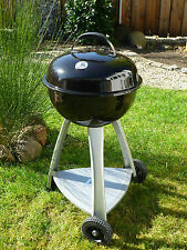 Holzkohle BBQ Kugelgrill Grill Standgrill Grillwagen Smoker m. Ablage Kettle