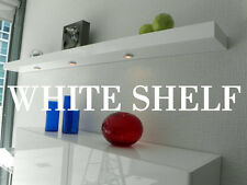 Mr Selecta Floating Wall Shelves 60 Inch White High Gloss Handmade In Usa
