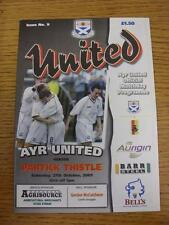27/10/2001 Ayr United v Partick Thistle  (No Obvious Faults)