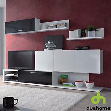Mueble de comedor salon moderno blanco y negro brillo