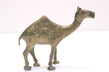 Heavy VTG Ornate Solid Brass Camel Figurine Paperweight - Egyptian Design
