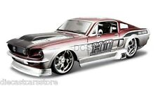 Maisto 1967 Ford Mustang GT HARLEY DAVIDSON RED&GRY 1/24  NEW WITHOUT BOX #34168