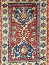 Amazing Afghan - Colorful Kazak Rug - Tribal Geometric Carpet - 3.6 x 5.6 ft.
