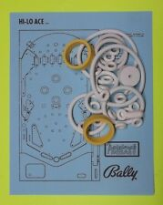 1973 Bally Hi Lo Ace pinball rubber ring kit