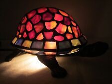 Tiffany Style Turtle Lamp Night Light Stained Glass Shell