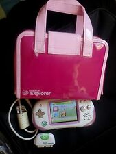 LeapFrog Explorer Learning Game System Pink w/Stylus, Case, Sync cord, camera #2