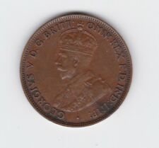 1924 Half Penny Halfpenny Coin Australia show 6 Clear pearls 2 faint ones H-885