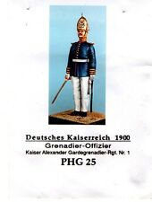 HECKER GOROS PHG 25 - DEUTSCHES KAISERREICH 1900 GRENADIER - 54mm WHITE METAL