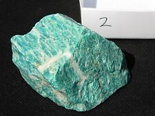 2) Large Natural Green Amazonite Amazon Crystal Mineral Madagascar 166g