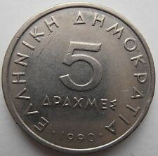 GREECE 5 DRACHMA 1990
