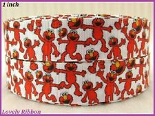 1 metre,ELMO, Sesame Street, 1 inch, Ribbon, 25mm, Grosgrain, Hair, Craft, Bows