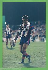 #T54. RUGBY LEAGUE PHOTO - ANDREW JOHNS KICKING BALL, NEWCASTLE KNIGHTS