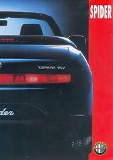 Alfa Romeo Spider Prospekt 3/97 car brochure 1997 Sportwagen Auto PKWs Italien