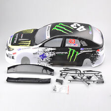 190MM Canopy 051 1:10 RC Model Car Drift Car Painted PVC Body Shell+Rear Wing