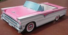 6 ~ 1955 Ford Cardboard Cars IN THE PINK Food Tray Box Party Favor Table Center