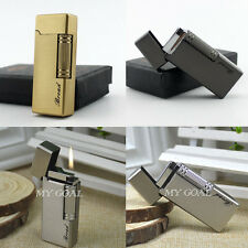Flint Wheel Cigarette Lighter Metal Windproof Jet Flame Refillable Butane Gas