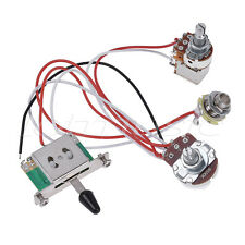 Electric Guitar Wiring Harness Prewired Kit 3 Way Toggle Switch 1V1T 500K Pots