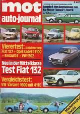 mot 10/72 VW 1302/Variant 160011E/Fiat 127/132/Renault R6/Kadett 1100/20.5.1972