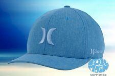 New Hurley Phantom Boardwalk Heather Blue Red Mens Flex Fit Cap Hat