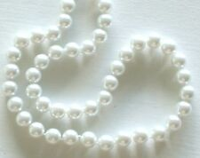 "10MM Snow White South Sea Shell Pearl Necklace 18"" NEW (silk gift bag)"