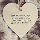 Shabby Chic Wooden Heart, Sign, East of India Style, Love Quote Gift