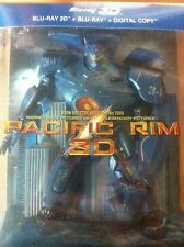 COFFRET STATUETTE  PACIFIC RIM BLU RAY 3D + 2D+ COPIE DIGITAL  NEUF SOUS CELLO