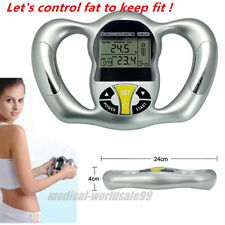 Digital Body Fat Tester Health Analyzer BMI Meter Handheld Calculator Monitor +