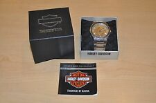 Men's Bulova 76a134 Harley Davidson Stainless Steel Watch Pre-owned