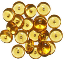 Topaz Wafer Czech Pressed Glass Beads 10mm (pack of 16) (pack of 20)