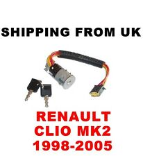 IGNITION SWITCH LOCK BARREL & KEYS RENAULT CLIO MK2 2 II WITHOUT IMMOBILIZER