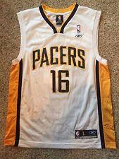 Indiana Pacers #16 Peja Stojakovic Jersey Mens Sz L Reebok Blue NBA VTG