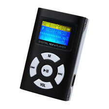 USB Mini MP3 Player LCD Screen Support 32GB Micro SD TF Card Black Xmas Gift UK