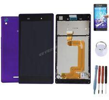 KIT COMPLET VITRE TACTILE ÉCRAN LCD CHASSIS ARRIÈRE SONY XPERIA T3 VIOLET MAUVE