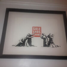 BANKSY SALE ENDS XX/500 PC COA FRAMED UNSIGNED